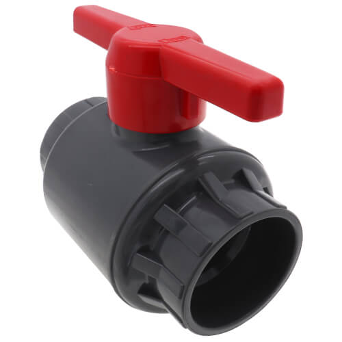 """4"""" 770G SCH 80 Gray PVC Ball Valve (Solvent) Product Image"""