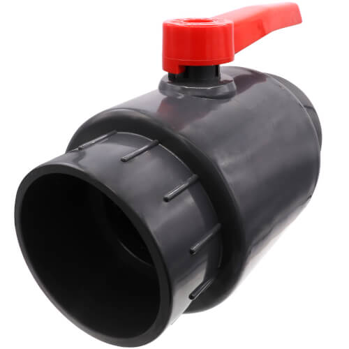 """6"""" 770N Economy PVC Ball Valve - Solvent Ends Product Image"""
