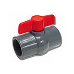 "3/4"" 770G SCH 80 Gray PVC Ball Valve (Threaded) Product Image"