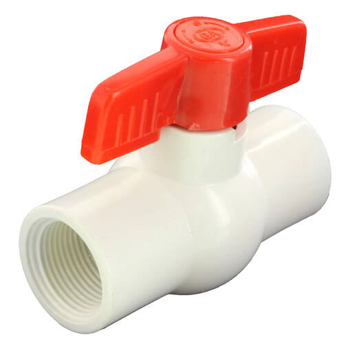 """3/4"""" 770N Economy PVC Ball Valve - Threaded Ends Product Image"""