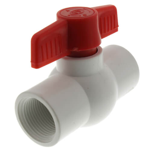 """1"""" 770N Economy PVC Ball Valve - Threaded Ends Product Image"""