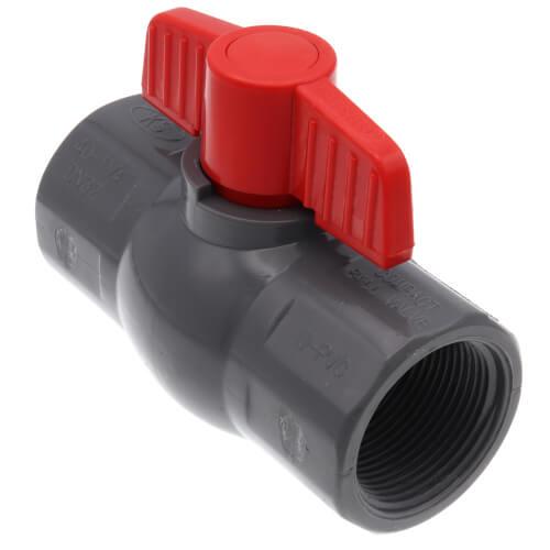 "1-1/4"" 770G SCH 80 Gray PVC Ball Valve (Threaded) Product Image"
