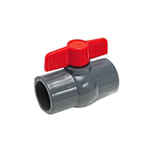 """4"""" 770G PVC Sch. 80 Ball Valve w/ Threaded Ends (Gray) Product Image"""