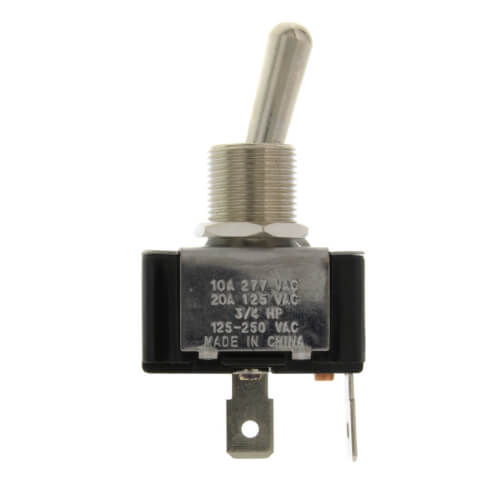 On-Off SPST Bat Handle Toggle Switch with Spade Termination & Face-plate (125/250V) Product Image