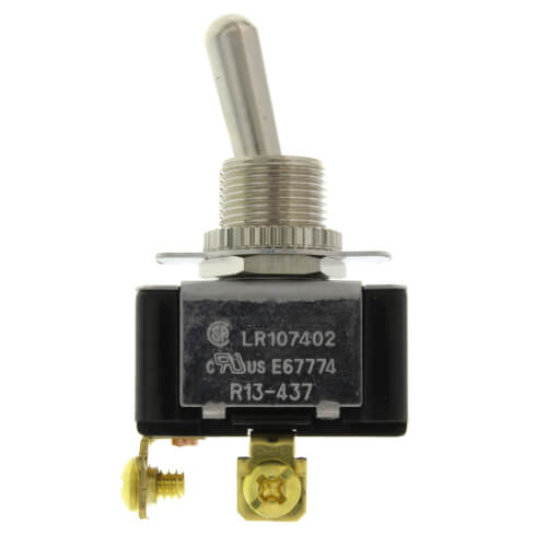 On-Off SPST Bat Handle Toggle Switch with Screw Termination & Face-plate (125/250V) Product Image