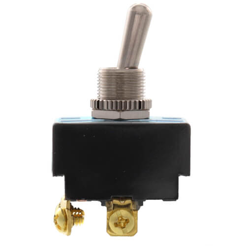 On-Off DPST Heavy-Duty Bat Handle Toggle Switch with Screw Termination (125/250V) Product Image
