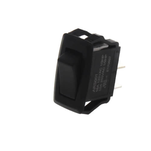 On-Off SPST Black Appliance Rocker Switch with Spade Termination (125/250V) Product Image