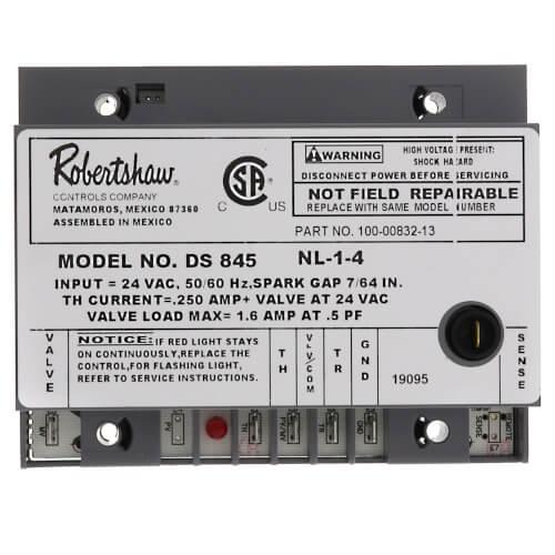 780-502 - Robertshaw 780-502 - Direct Spark Ignition Control, no prepurge   Ds845 Gas Valve Wiring Diagram      SupplyHouse.com