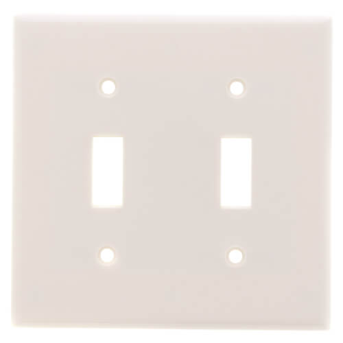 2-Gang Electrical Wall Plate, Toggle Switch (Light Almond) Product Image