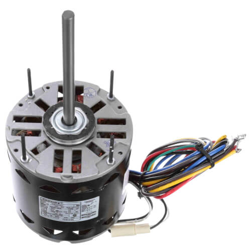 "5-5/8"" 3-Speed Fan Coil Motor w/ Dual Wheel Blower (277V, 1075 RPM, 1/2 HP) Product Image"