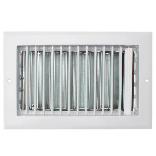 """10"""" x 6"""" (Wall Opening Size) White Sidewall/Ceiling Register (A618OB Series) Product Image"""