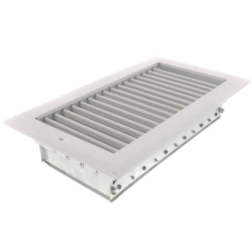 """8"""" x 8"""" (Wall Opening Size) White Sidewall/Ceiling Register (A618OB Series) Product Image"""