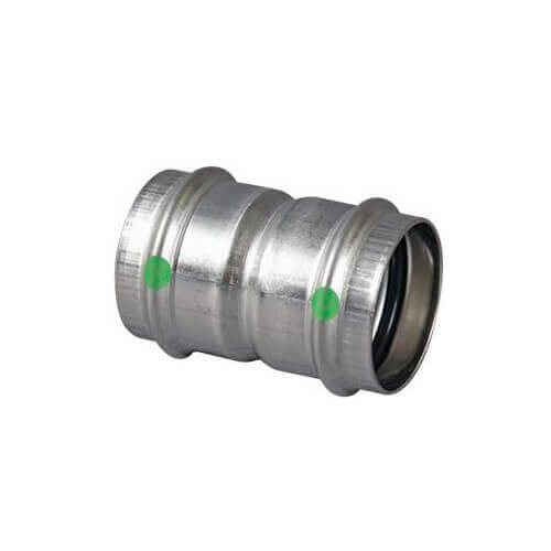 "1-1/2"" ProPress 316 Stainless Steel Coupling w/ EPDM Seal Product Image"