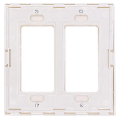 2-Gang Decora Wall Plate, Snap-On Mount (White) Product Image