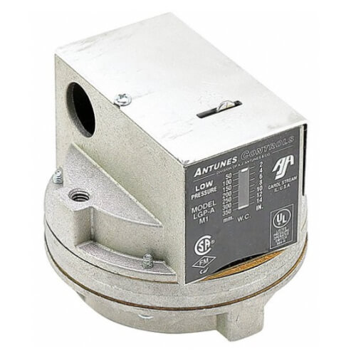 """LGP-A Manual Reset SPDT Low Gas Pressure Switch w/ 1/4"""" NPT Connection and 1/8"""" NPT Vent, 2-14"""" WC Product Image"""