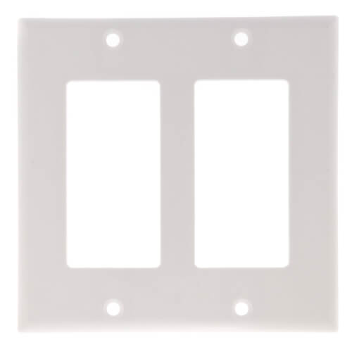 2-Gang Decora Electrical Wall Plate, GFCI (White) Product Image