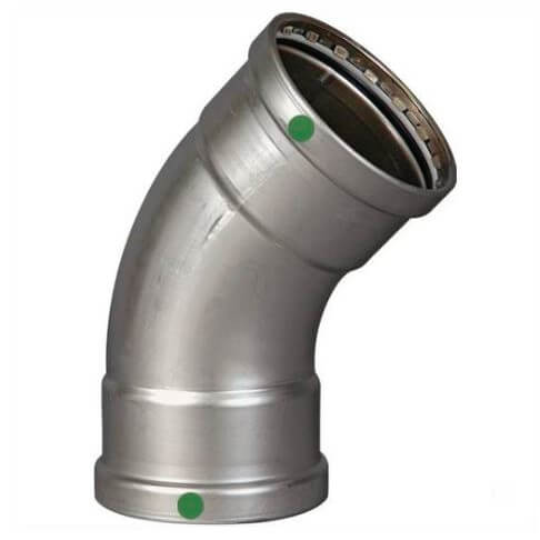 """4"""" ProPress XL Stainless Steel 45° Elbow w/ EPDM Seal Product Image"""