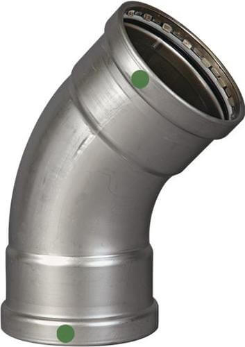 "3"" ProPress XL Stainless Steel 45° Elbow w/ EPDM Seal Product Image"