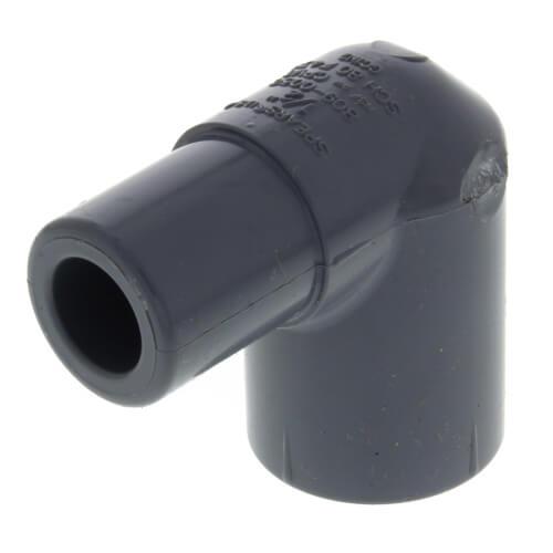 "1/2"" Spigot x 1/2"" Socket CPVC Schedule 80 90° Street Elbow Product Image"