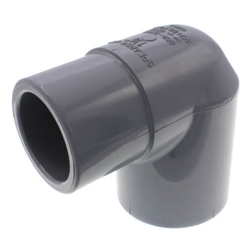 "1-1/2"" Spigot x 1-1/2"" Socket CPVC Schedule 80 90° Street Elbow Product Image"
