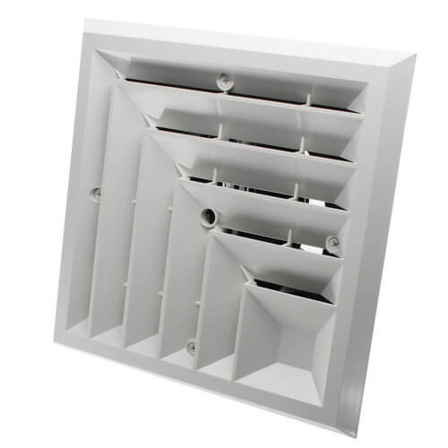 """MV2S Ceiling Diffuser w/ 2-Way Grille (6"""" x 6"""") Product Image"""