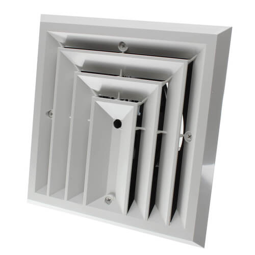 """MV3S Ceiling Diffuser w/ 3-Way Grille (6"""" x 6"""") Product Image"""