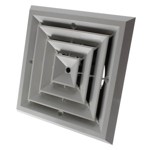 """MV4S Ceiling Diffuser w/ 4-Way Grille (6"""" x 6"""") Product Image"""