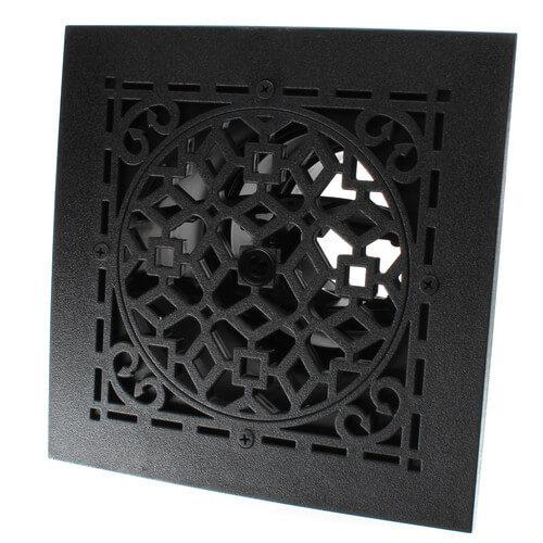 "MVASB Ceiling Diffuser w/ Antique Black Grille (6"" x 6"") Product Image"