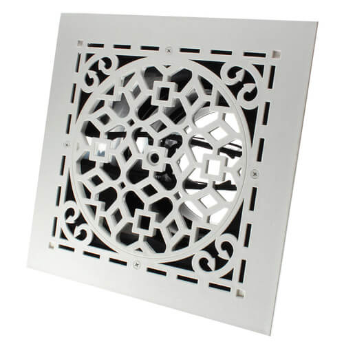 """MVAW Ceiling Diffuser w/ Antique White Grille (8"""" x 8"""") Product Image"""
