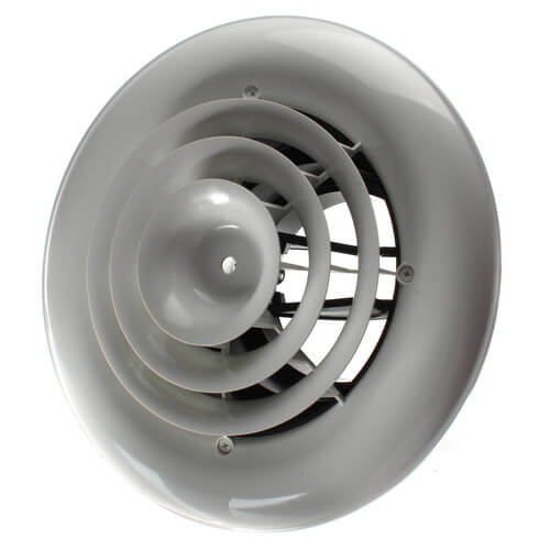 """MV360 Ceiling Diffuser w/ Round Grille (8"""" x 8"""") Product Image"""