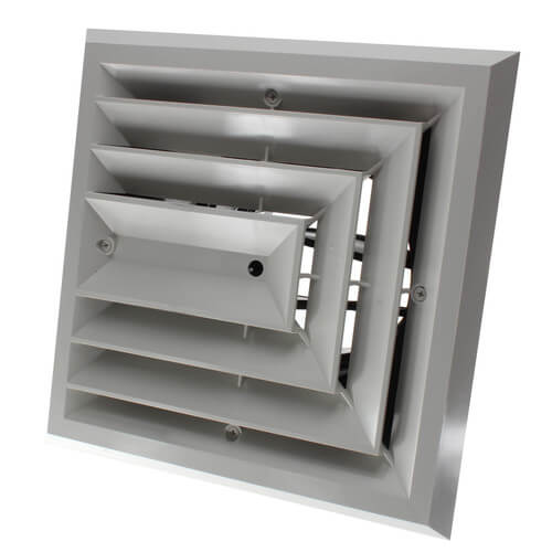 "MV3 Ceiling Diffuser w/ 3-Way Grille (8"" x 8"") Product Image"