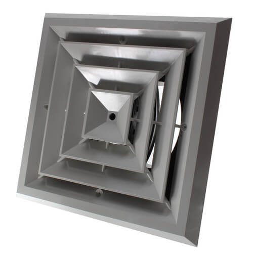 """MV4 Ceiling Diffuser w/ 4-Way Grille (8"""" x 8"""") Product Image"""