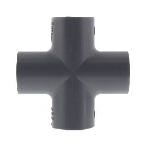 """1/2"""" CPVC Schedule 80 Cross (Socket) Product Image"""