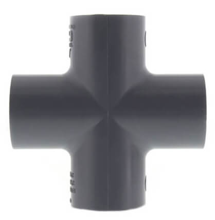 "4"" CPVC Schedule 80 Cross (Socket) Product Image"