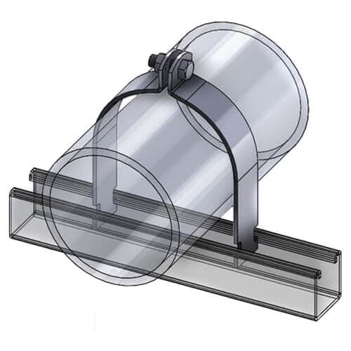 """1-1/4"""" Pipe Clamp, Grade 304 (Stainless Steel) Product Image"""