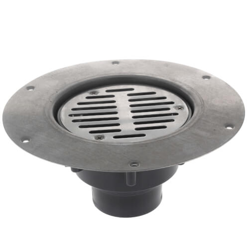 822 2ps Sioux Chief 822 2ps 2 X 3 Pvc Halo Adjustable Floor Drain W Deck Flange Round Ss Strainer Hub