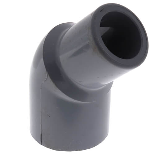 "1"" Spigot x 1"" Socket CPVC Schedule 80 45° Street Elbow Product Image"