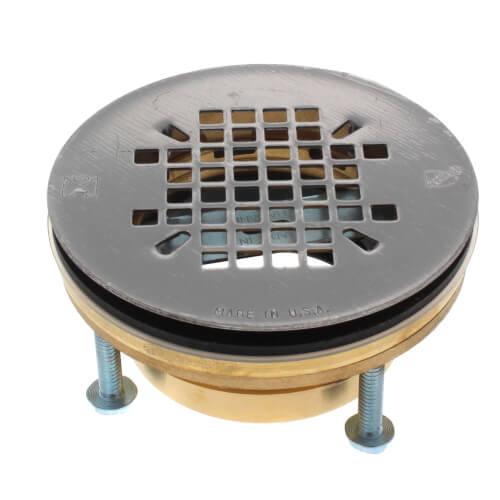 "2"" PVC No Caulk JackRabbit Shower Drain w/ Stainless Steel Strainer Product Image"