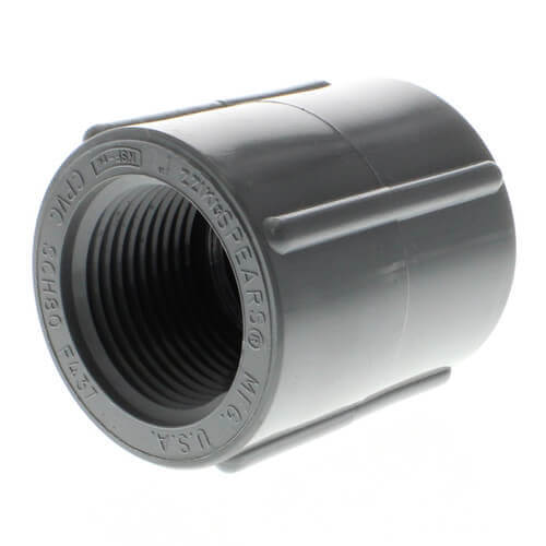 """1/2"""" CPVC Schedule 80 Coupling (FPT) Product Image"""