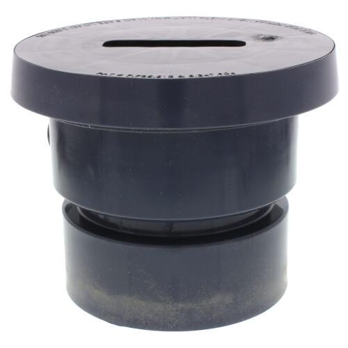 "4"" PVC FinishLine Adjustable Rough-In Floor Drain Coring Plug (Hub) Product Image"