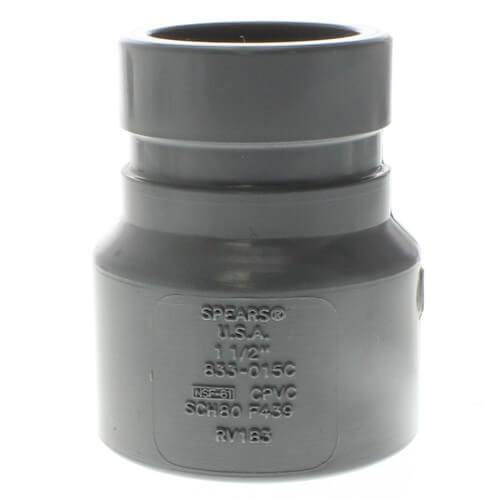 "1-1/2"" CPVC Schedule 80 Grooved Coupling Adapter (Groove x Socket) Product Image"