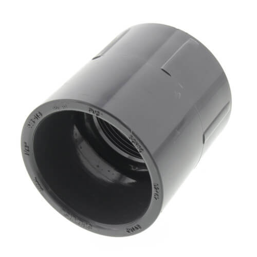 """1-1/2"""" PVC Schedule 80 Female Adapter (S x FPT) Product Image"""