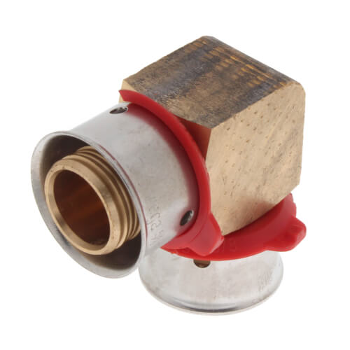 """5/8"""" PEX Press 90° Elbow w/ Attached Sleeve Product Image"""
