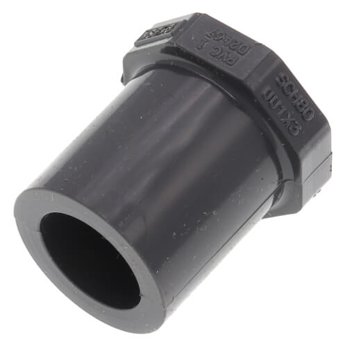 """1/2"""" x 3/8"""" PVC Schedule 80 Reducer Bushing (SPG x S) Product Image"""