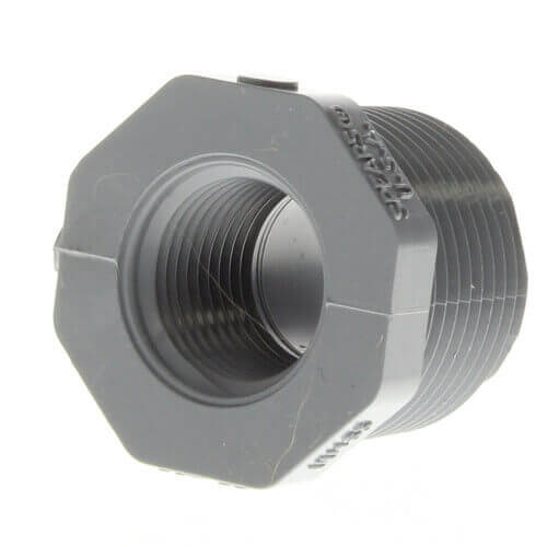 "1/4"" x 1/8"" CPVC Schedule 80 Flush Style Reducer Bushing (MIPT x FIPT) Product Image"