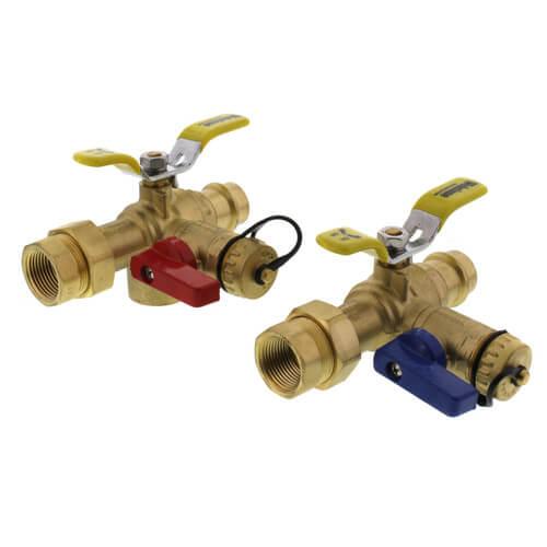 """PEX 3//4/"""" Tankless Water Heater Isolation Valve Kit LEAD FREE"""