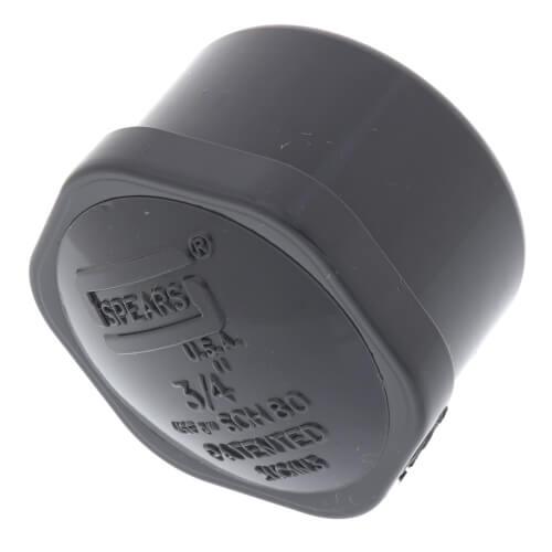 """3/4"""" PVC Schedule 80 Cap (FPT) Product Image"""