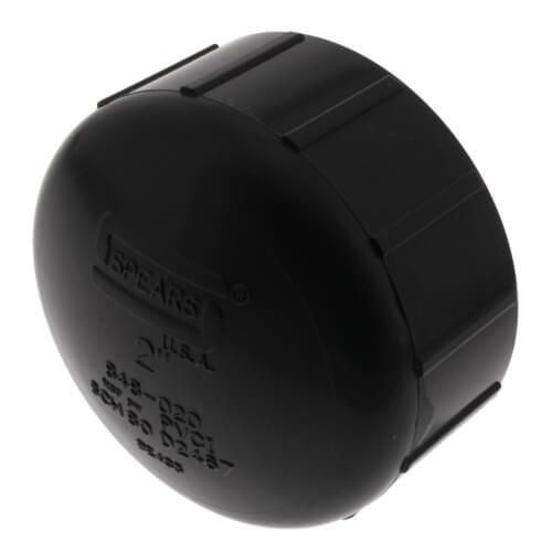 """2"""" PVC Schedule 80 Cap (FPT) Product Image"""
