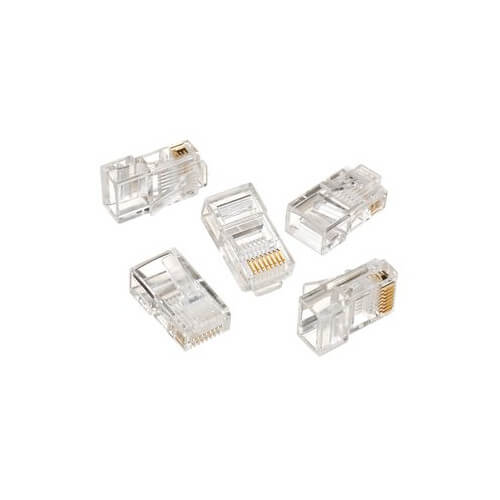 8-Position 8-Contact RJ-45 CAT 5e Modular Plug (Box of 25) Product Image