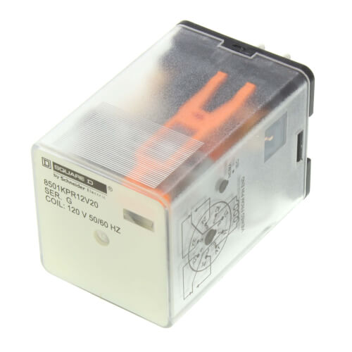 Plug In 8 Pin Relay, DPDT, Cylindrical Terminals (120V) Product Image